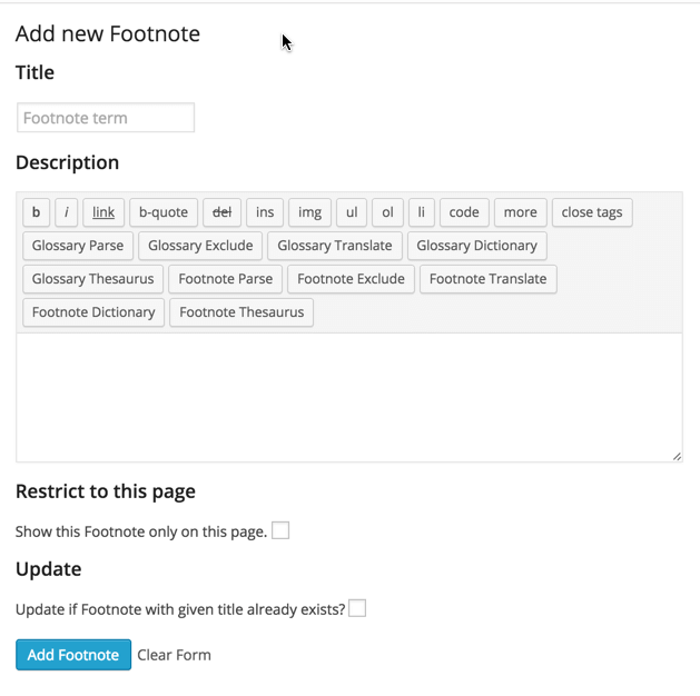 How do I add footnote numbers without adding footnotes to the page?