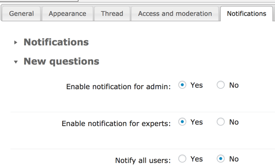 Answers Robust Notification System Settings