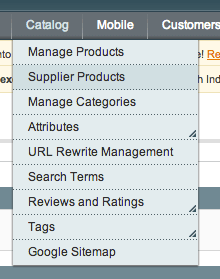 Shows the catalog of all the products uploaded by a supplier.